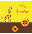 shower card with giraffe vector image vector image
