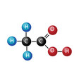sience molecule on white background vector image