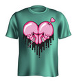 skull heart t-shirt vector image