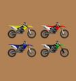 sport moto offroad 4x set technical model vector image vector image