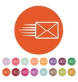The envelope icon Mail symbol vector image