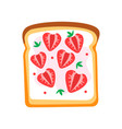 toasted bread slice with butter and ripe vector image vector image