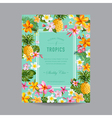 Tropical Floral Frame - for Invitation Wedding vector image vector image