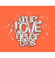 True Love Never Dies Text vector image