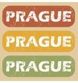 Vintage Prague stamp set vector image