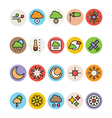 Weather Colored Icons 3 vector image