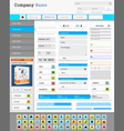 Web design elements set vector | Price: 1 Credit (USD $1)