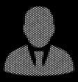 white pixel manager icon vector image vector image