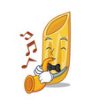 with trumpet penne pasta character cartoon vector image vector image