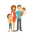 Happy parents Mom and dad with kids vector image