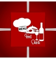restaurant menu with chef hat red vector image