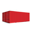 3d perspective red cargo container shipping vector image vector image