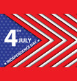 4th july independence day of the usa arrow vector image vector image