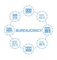 8 bureaucracy icons vector image vector image