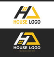 a set of logos with a letter h vector image vector image