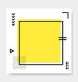 abstract geometric frame memphis square cards vector image vector image
