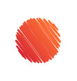 background circle orange abstract scribble vector image vector image