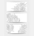 beautiful black and white set horizontal vector image