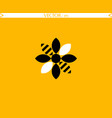 bee flower logo vector image