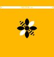 bee flower logo vector image vector image