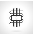 Black style icon for electric warm floor vector image vector image