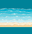 blue sea and beach summer background torn paper vector image vector image