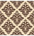 Brown and beige seamless damask pattern vector image vector image