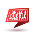 bubble speech red vector image