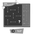 BW find the missing part arrow vector image