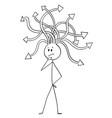 cartoon man or businessman thinking vector image