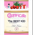 certificate best kid in the block 2 vector image vector image