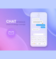 chat interface application with dialogue window vector image vector image