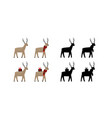 christmas santas reindeer icon made vector image vector image