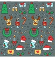 Colorful Christmas and New Year seamless pattern vector image