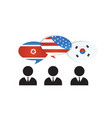 communication north south korea and us america vector image vector image