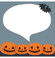 Cute funny Halloween pumpkins with bubble speech vector image vector image