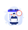 deadline at work productivity and time management vector image