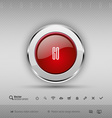 design elements Red and gray glossy button with vector image vector image
