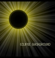 eclipse yellow background vector image