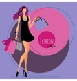 Fashion girl Woman with shopping bags vector image vector image
