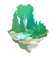 fragment forest with a stream isolated on a vector image vector image