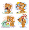 funny with teddy bear on the theme vector image