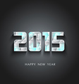 glaciers 2015 Happy New Year vector image vector image