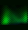 glowing neon green rows of triangles background vector image vector image