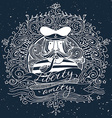 Hand drawn vintage label with a sailor on vector image