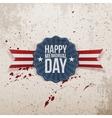 Happy Memorial Day patriotic Banner with Text vector image vector image