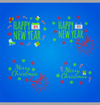 happy new year banner and giftcard x vector image