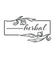 herbal floral design flower monochrome sketch vector image