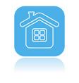 home icon square blue icon a building vector image