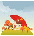 House under umbrella vector image vector image